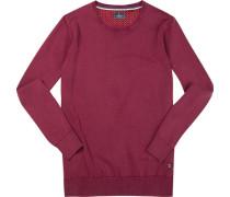 Pullover, Baumwolle, dunkel meliert