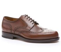 Schuhe Brogue, Kalbleder, mittel