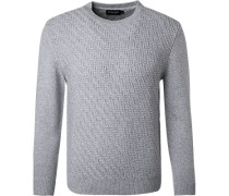 Pullover, Wolle-Seide, hell meliert