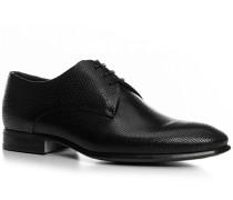 Schuhe Derby, Kalbleder, nero