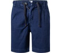 Hose Shorts, Relaxed Fit, Baumwolle, indigo