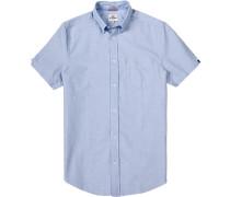 Kurzarmhemd, Oxford, hell-weiß meliert