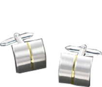 Schmuck Manschettenknöpfe, Metall, silber