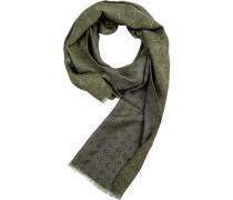 Schal, Wolle, dunkel gemustert