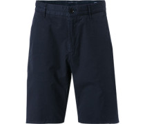 Hose Bermudashorts, Modern Fit, Baumwolle, navy