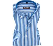 Hemd, Modern Fit, Baumwolle, capri-weiß gestreift