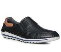 Schuhe Slipper, Leder, dunkel