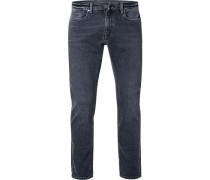 Jeans, Slim Fit, Baumwolle, dunkel