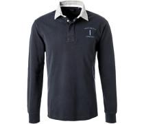 Rugby-Shirt, Classic Fit, Baumwolle, marine-grau