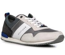 Schuhe Sneaker, Leder-Textil, taupe-