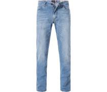 Jeans, Modern Fit, Baumwolle, hell