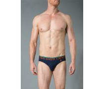 Unterwäsche Slip, Baumwoll-Stretch, marine