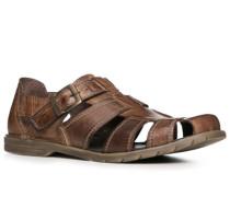 Schuhe Sandalen, Leder, cognac
