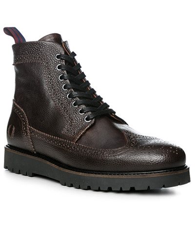 Schuhe Stiefeletten, Leder, dunkel