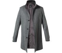 Mantel, Wolle-Kaschmir, dunkel meliert