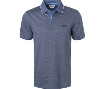 Polo-Shirt, Baumwolle, mittel-schwarz meliert