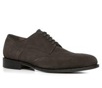 Schuhe Brogue, Veloursleder, grau