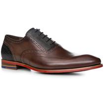Schuhe Oxford, Leder,  gemustert