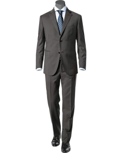 Anzug, Wolle, grau meliert