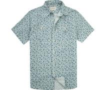 Hemd, Regular Fit, Popeline, off white- gemustert