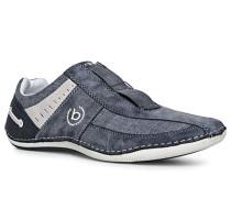 Slipper, Leder-Textil, jeans