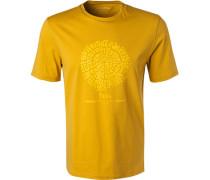 T-Shirt, Baumwolle, ocker