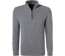 Pullover Troyer, Wolle, stein meliert