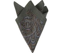 Accessoires Einstecktuch, Wolle, grau gemustert
