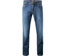 Jeans, Sraight Fit, Baumwoll-Stretch, dunkel