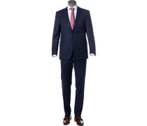 Anzug, Modern Fit, Schurwolle, dunkel