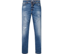 Jeans, Skinny Fit, Baumwoll-Stretch