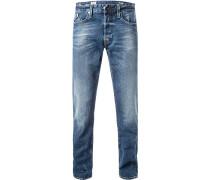 Jeans Waitom, Regular Slim Fit, Baumwoll-Stretch 12oz
