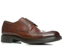 Schuhe Brogue, Kalbleder glatt, cuoio