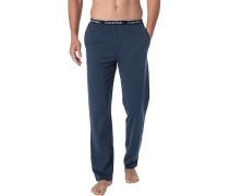 Pyjamahose, Baumwolle, marine