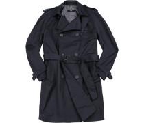 Mantel Trenchcoat, Slim Fit, Baumwolle, navy