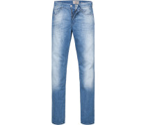 Jeans Slimmy, Straight Fit, Baumwoll-Stretch, hell
