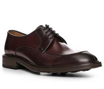 Schuhe Derby, Glattleder, bordeaux