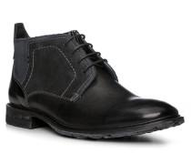 Schuhe Stiefelette Dingo, Kalbleder, -graublau