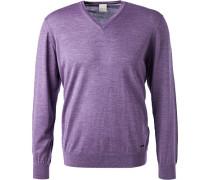 Pullover, Wolle, violett meliert
