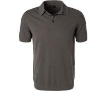 Polo-Shirt, Baumwolle, taupe