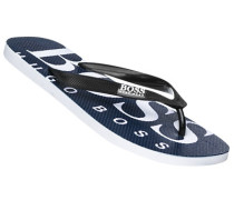 Schuhe Zehensandalen, PVC, navy-weiß