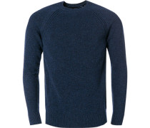 Pullover, Wolle, saphir