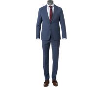 Anzug, Slim Fit, Schurwolle Super100 wasserabweisend