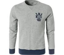 Sweatshirt, Classic Fit, Baumwolle, hell meliert
