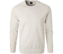 Sweatshirt, Baumwolle, creme