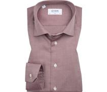 Hemd, Slim Fit, Oxford, bordeaux gemustert