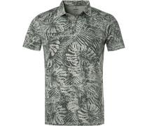 Polo-Shirt, Baumwoll-Jersey,  gemustert