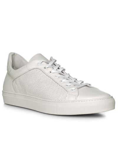 rosso e nero Herren Schuhe Sneaker, Leder, bianco