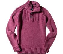 Pullover Troyer, Schurwolle, fuchsia