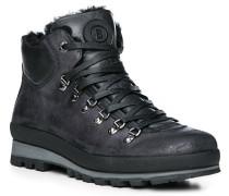 Schuhe Boots, Leder Lammfell gefüttert, -anthrazit